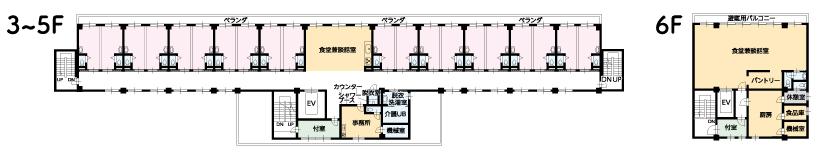 オーロラフロアマップ3-5階